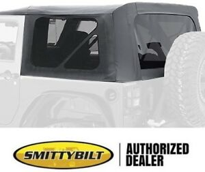 Replacement Black Soft Top Tinted Windows 9075235 10 18 For Jeep Wrangler Jk 2 D