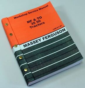 Massey Harris 50 Tractor Service Repair Shop Manual Technical Workshop Mh 50