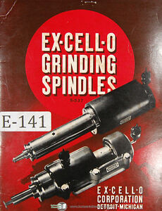 Excello Grinding Spindles Machine Manual