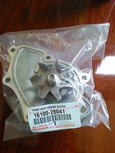 Genuine Oem 16100 28041 Toyota Lexus Water Pump New Free Expedited Shipping