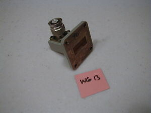Wg 13 Wr 90 8 12 4ghz X Band Waveguide To Type Tnc m Adapter Omega Labs
