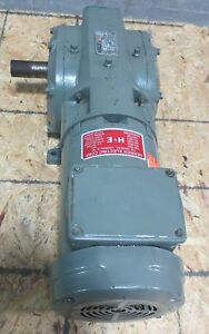 Reliance Electric 3 Ph Ac 60 To 1 Ratio Geared Motor P14h1446m ti 2 Hp 1730 Rpm