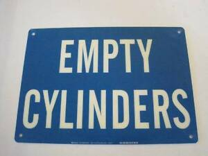 Poly Empty Cylinders Safety Warning Welding Propane Tanks Sign 14 X 10 Plastic