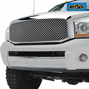 06 08 Dodge Ram 1500 Mesh Grille Grill Abs Chrome Packaged W shell