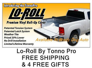 2007 2013 Gmc Sierra 5 8 Ft Roll Up Tonneau Bed Cover By Tonno Pro Lr 1035