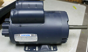 Leeson 1hp Electric Motor 1700 1400 Rpm 7 8 Shaft W Pump Mount C6p17db9a