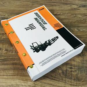 Case Dh4 Trencher Backhoe Plow Service Catalog Manuals Repair Technical Shop