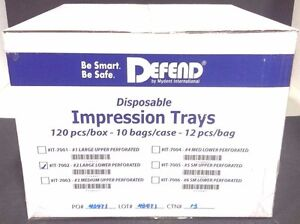 Defend Disposable Impression Tray 2 Large Lower 120pcs 10bgs 1box it 7002