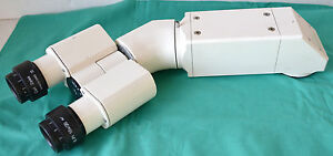 Zeiss Binocular Microscope Head With E pi 10x 20 Eye Pieces
