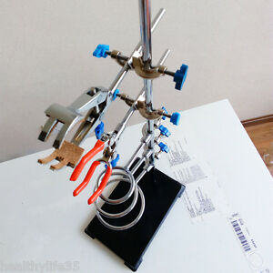 Lab Retort Stand Support And Flask Condenser Clamp Set