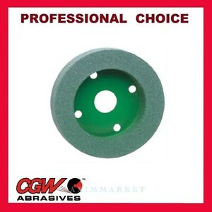 Cgw Green Silicon Carbide Plate Mounted Wheel 6 x 1 x 4 Grit 60 80 100 120