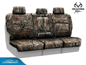 Coverking Realtree Xtra Camo Rear Custom Seat Covers For Chevy Silverado 3500