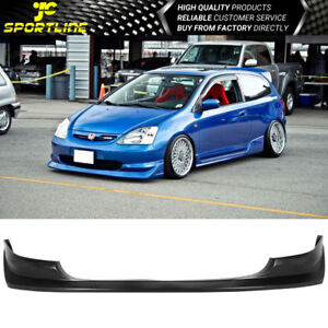 Fit 2003 2005 Honda Civic Si 3dr Hatchback Aw Style Pu Front Bumper Lip