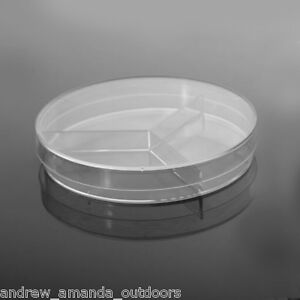100 X 15 Mm Petri Dish Y plate 3 section Semi stackable 20 pk 500 cs 753021