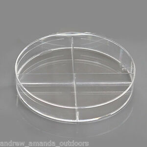 100 X 15 Mm Petri Dish X plate 4 section Semi stackable 20 pk 500 cs 753031