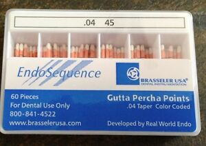 1 New Pack Of Brasseler Endosequence Gutta Percha Points Size 45 Taper 04
