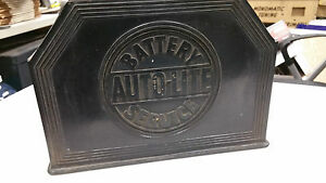 Vintage Autolite Battery Service Station Mopar Ford Chevrolet Packard Nash Chevy