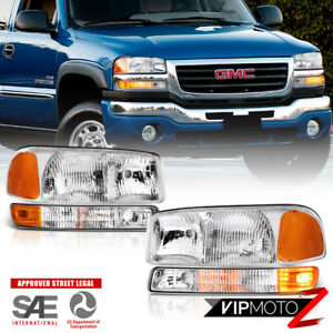 1999 2006 Gmc Sierra factory Style 4pc Bumper Headlights Assembly 00 06 Yukon