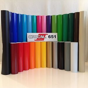 12 Oracal 651 Adhesive Vinyl craft 13 Rolls 5 Ea With Free Bonus Sheet