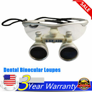 Dental Loupes 3 5x 420mm Magnifiers Medical Surgical Binocular Loupes Usa Stock
