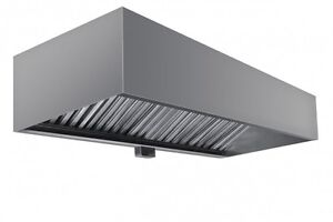 Commercial Box Style Exhaust Hood With Interior Makeup Air 5 X 48 X 24 h