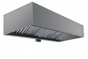Commercial Box Style Exhaust Hood With Interior Makeup Air 9 X 48 X 24 h