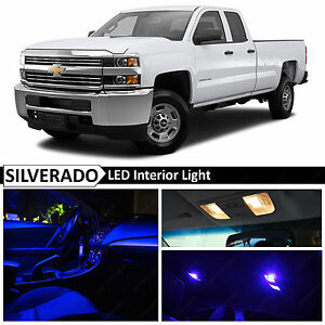 14x Blue Interior Led Light Package Kit For 2007 2013 Chevy Silverado