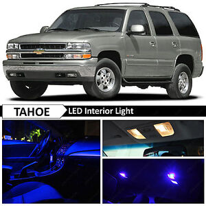 20x Blue Led Interior Map Dome Lights Bulb Package Kit For 2000 2006 Chevy Tahoe