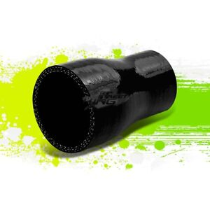 1 5 To 2 3 ply Universal Straight Coupler Reducer Piping Silicone Hose Black