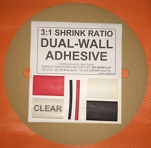 3 8 9mm Red 50 Ft Dual wall Adhesive Lined Heat Shrink Tubing 3 1 Ratio