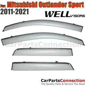 Wellvisors Window Visors 11 18 Mitsubishi Outlander Sport Side Deflectors
