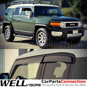 Wellvisors Window Visors 2007 2014 For Toyota Fj Cruiser Sun Visors Deflectors