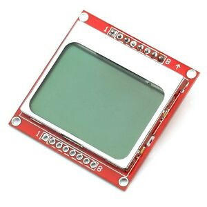 1pcs 84x48 84 48 Nokia 5110 Lcd Module With Blue Backlight Adapter Pcb