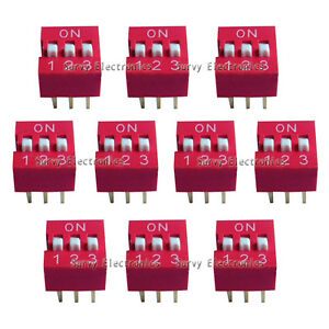 20pcs New 3p 3 Position Dip Switch Side Style 2 54mm Pitch Through Hole Diy Good
