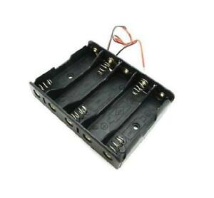 2pcs Plastic Battery Storage Case Box Holder 5 X Aa 5xaa 2a 7 5v Wire Leads