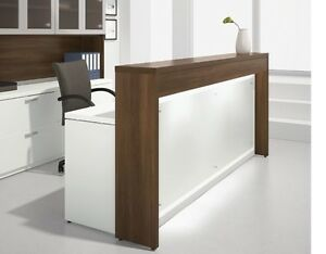 Morpheo 97 Modern Reception receptionist Office Desk Shell With Countertop