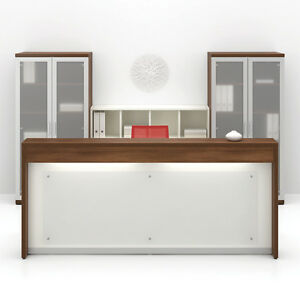 Morpheo 97 Modern Reception receptionist Office Desk Shell Bookcase And Hutch