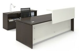 Morpheo 96 Modern Executive Office Desk Shell Credenza And Open Storage