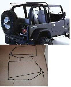 Soft Top Hardware Frame Factory Style Squared Door Frame 88 95 For Jeep Wrangler