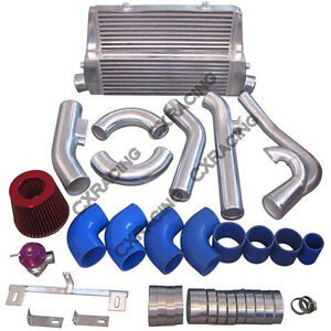 Cxracing Intercooler Turbo Intake Kit For 83 88 Toyota Truck Hilux 2jz Gte Twin
