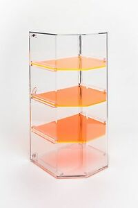 4 shelf Retail bakery Display Case With Removable Shelves