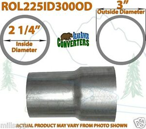 2 1 4 2 25 Id To 3 Od Universal Exhaust Pipe To Component Adapter Reducer