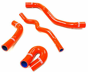 Obx Red Reinforced Silcone Radiator Hose Fits 09 13 Mazdaspeed 3 2 3l Turbo