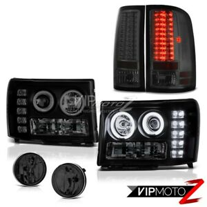 super Bright Ccfl Halo Headlight Led Tail Light Bumper Fog 07 13 Sierra 2500hd