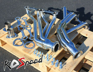 Stainless Steel Ss Exhaust Long Tube Header For 67 77 Chevy Action line Sbc V8