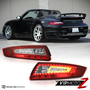 2005 08 Porsche 997 Red Clear Led Tail Lights Pair Left Right Brake Signal Lamps