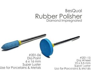 Diamond Rubber Polisher Wheel And Point For Porcelain And Metals 2 Sets Of