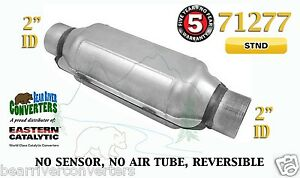 71277 Universal Catalytic Converter Standard Catalyst 2 Pipe 12 Body