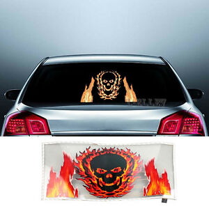 Fire Skull Led Car Sticker Music Rhythm Flash Light Sound Activated Equalizer