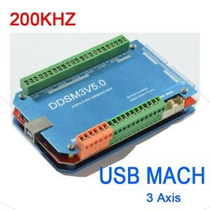 200khz Cnc Usb Mach3 Interface Board 3 Axis Breakout Controller Board Control